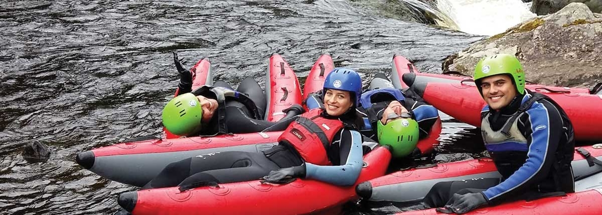 River Bugging on the River Tummel with Unique Adventure Tours Scotland