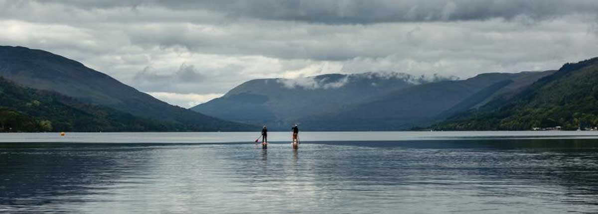 Standup Paddle Boarding on the Lochs and Rivers of Scotland on your Unique Adventure Tour