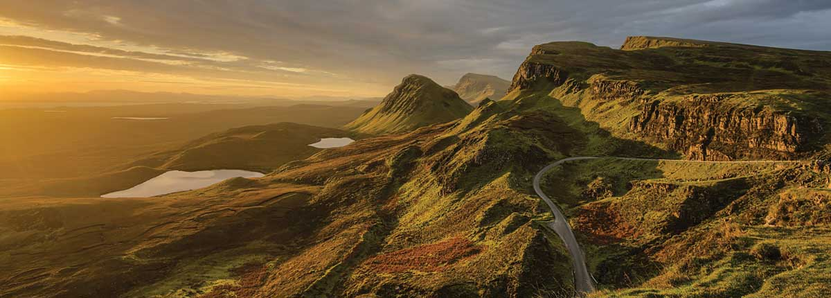 The Quiraing (Skye) mountain views and stunning locations with unique adventure tours scotland