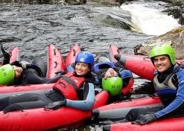 unique adventure tours scotland river bugging on the river tummel