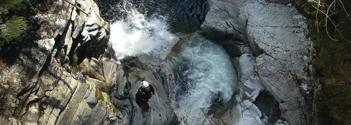 Falls of Bruar Canyoning with Unique Adventure Tours Scotland