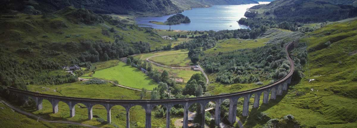 Glenfinnan Viaduct trail Unique Adventure Tours Scotland