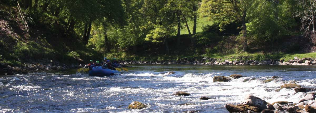 stunning views on the river tay white water rafting with unique adventure tours scotland