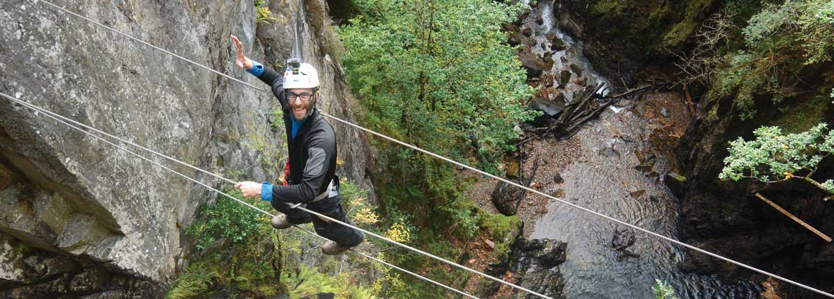 Views in the Via Ferrata with Unique Adventure Tours Scotland