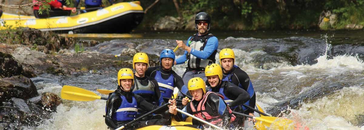 unique adventure tours scotland river tummel rafting