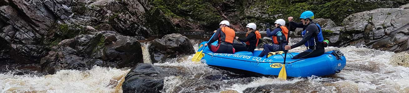 Rafting on the River Findhorn with Unique Adventure Tours Scotland