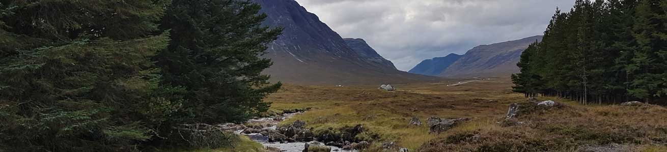 Views from the Kings House in Glencoe with Unique Adventure Tours Scotland