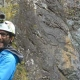Chris from Unique Adventure Tours Scotland on the Via Ferrata in Kinlochleven