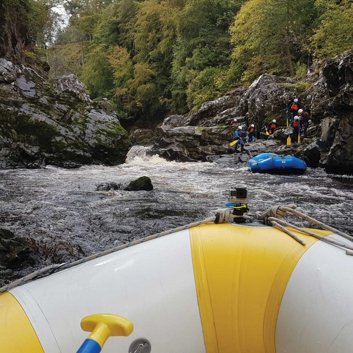 Rafting on the River Findhorn with Unique Adventure Tours Scotland for the ultimate Rafting Adventure in Scotland