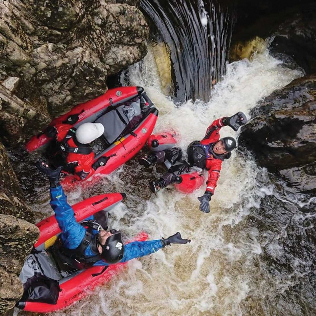 The Cauldron River Bugging in the Spean Gorge with Unique Adventure Tours Scotland adventure activity tours