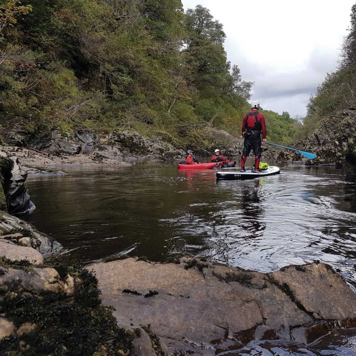 River Bugging in the Spean Gorge with Unique Adventure Tours Scotland