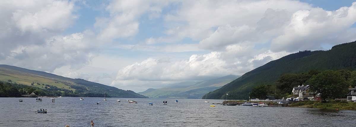 Loch Tay Beach from Kenmore for some stunning Standup Paddle Boarding