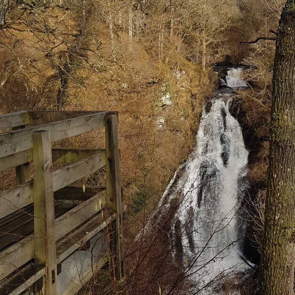 The Black Spout Waterfalls Pitlochry Perthshire