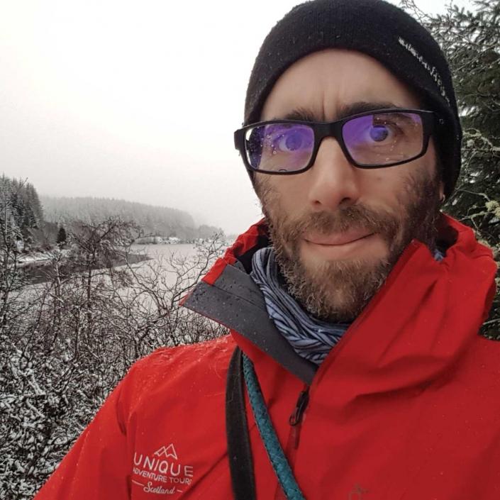 Chris your guide and driver at Unique Adventure Tours Scotland