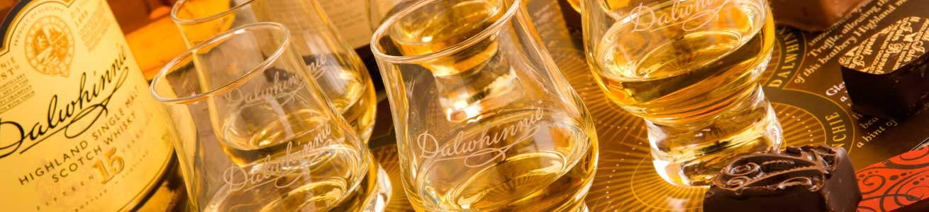 Whisky pairing with tasting flutes on your Scottish Adventures