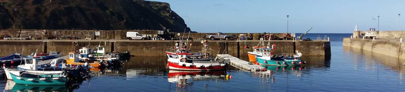 Gardenstown Harbour on the Moray Coast