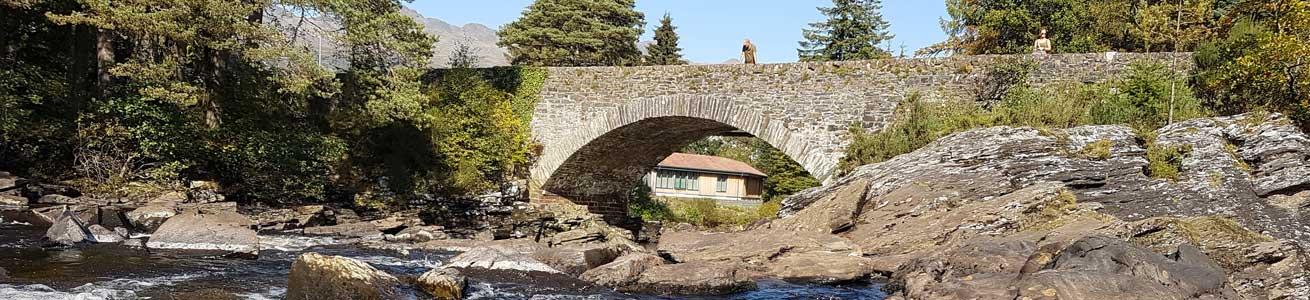 Killin, Falls of Dochart on tour in Scotland on your Scottish Adventure