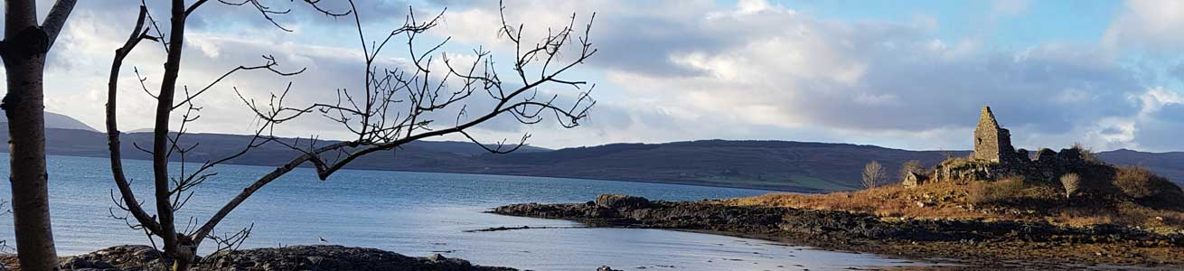 Views over to Mull on tour in western Scotland with private transport