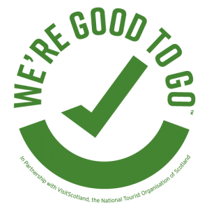 We're Good To Go Scotland Logo and Certification