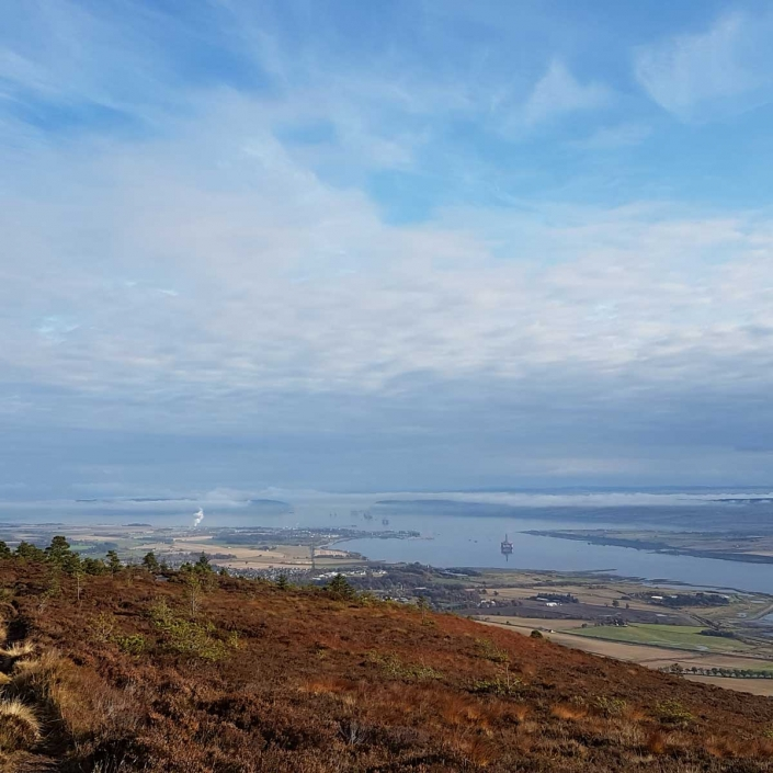 View from the Fyrish Monument on the Black Isle