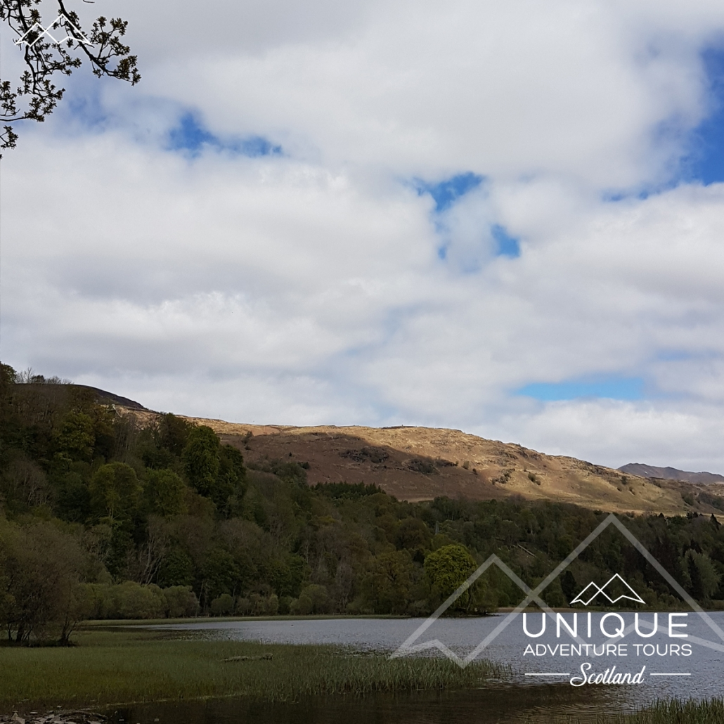 Loch Tay from Killin next to Finlarig Castle Ruins