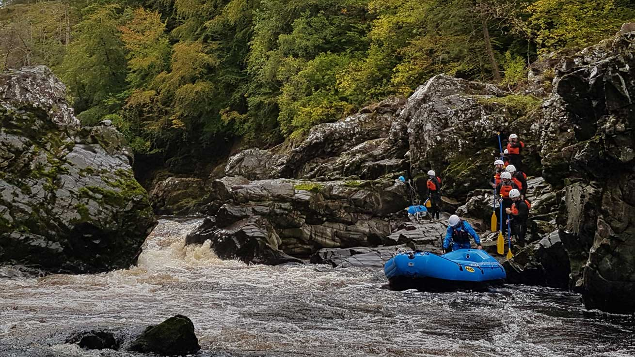 Whitewater Rafting Scotland with Unique Adventure Tours Scotland