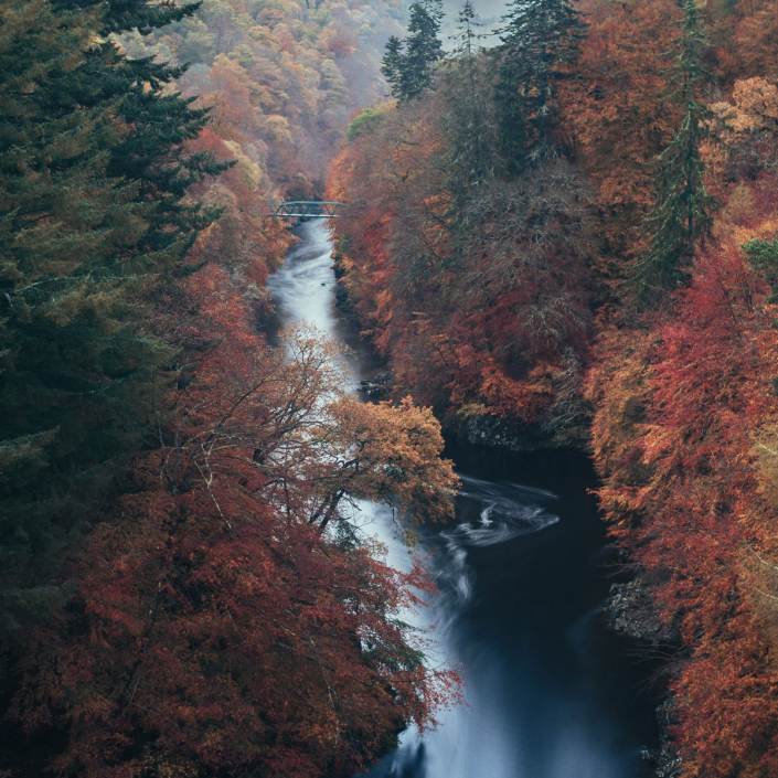 Top 10 Autumn Walks in Perthshire over the River Garry
